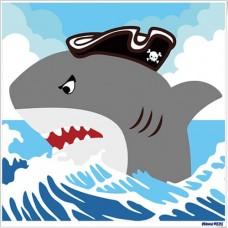 數字油畫 鯊魚
