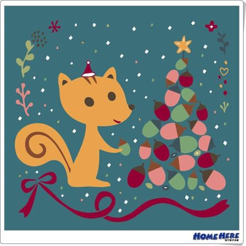 數字油畫 X 插畫家尼果 幸福耶誕 愛
