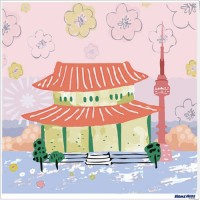 數字油畫 繪旅行 首爾之戀