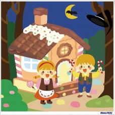 數字油畫 童話狂想曲 糖果屋