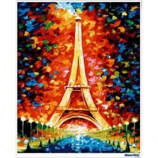 數字油畫 艾菲爾鐵塔