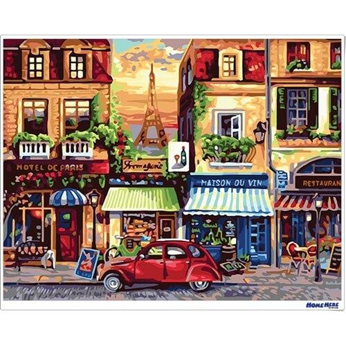 數字油畫 巴黎薔薇街