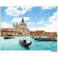 數字油畫 晴空威尼斯
