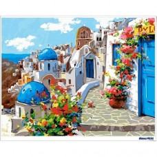 數字油畫 愛情海 藍色經典