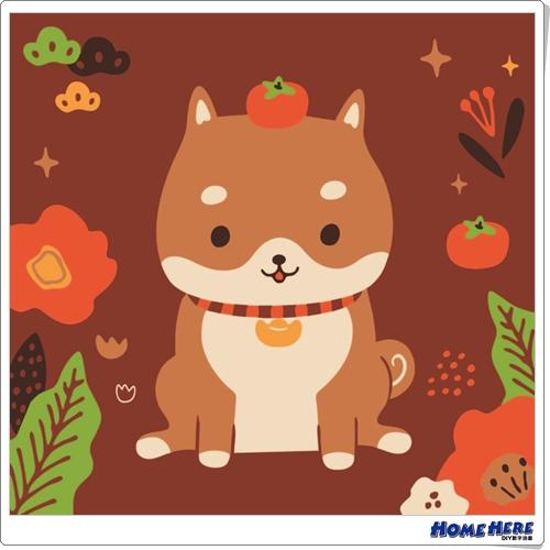 數字油畫 X 插畫家尼果 招福柴犬