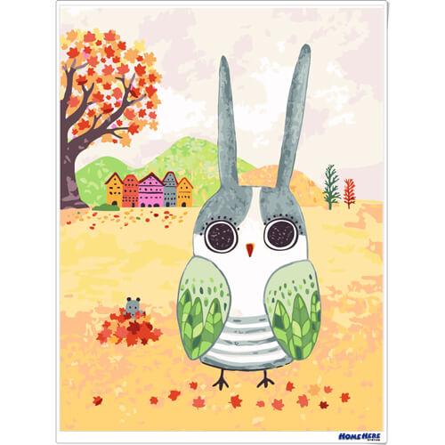 數字油畫 X 插畫家尼果 兔子貓頭鷹