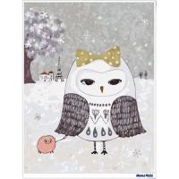 數字油畫 × 插畫家尼果 巴黎貓頭鷹