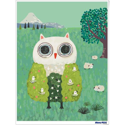 數字油畫 X 插畫家尼果 樹之貓頭鷹